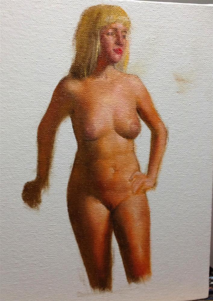 """""""Kat Figure Study"""" original fine art by Jonathan Aller"""