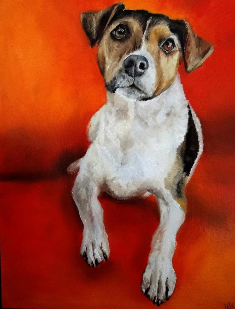 """Lady on Red"" original fine art by Karen Robinson"