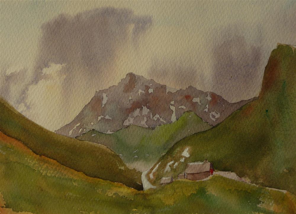 """Alpine Pass French Alps"" original fine art by Peter Wellington"