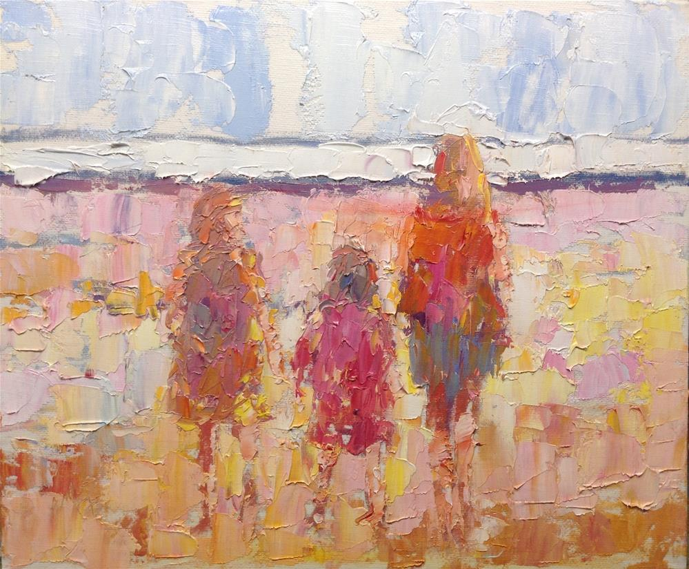 """""""Let's look at the waves"""" original fine art by Joseph Mahon"""