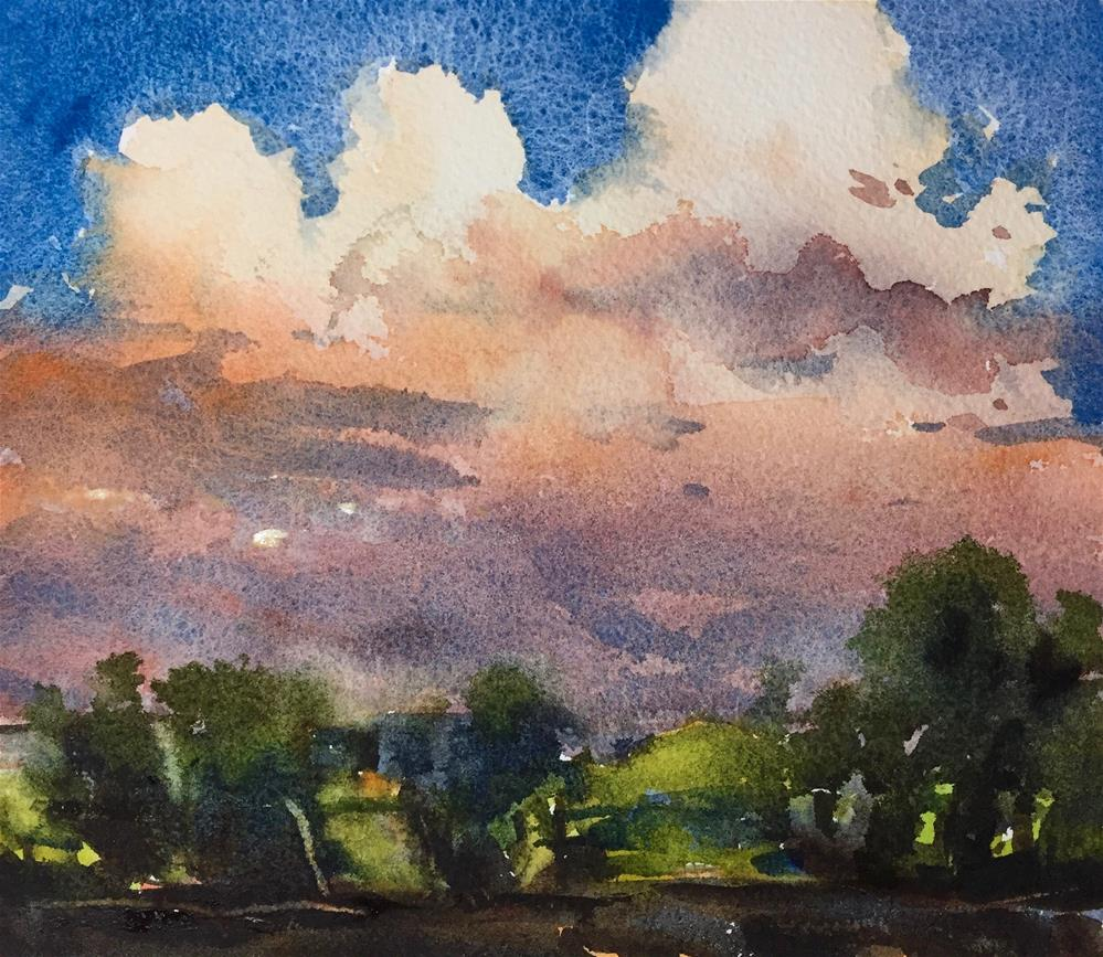 """""""Thunderclouds"""" original fine art by Laurie Maher"""