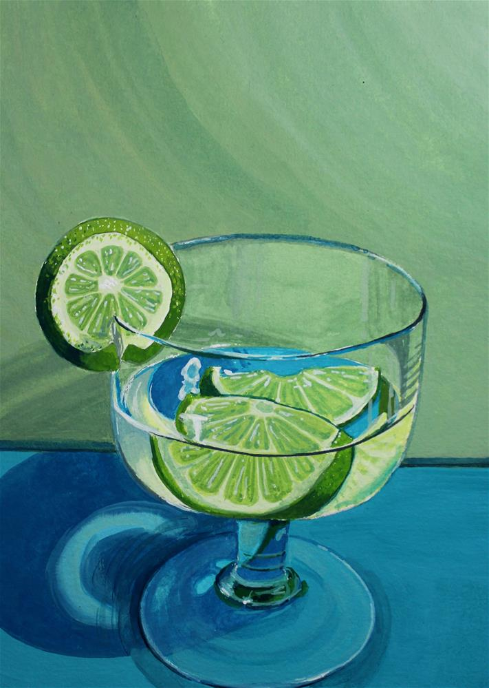 """Slices of Lime"" original fine art by Brandy Woodford"