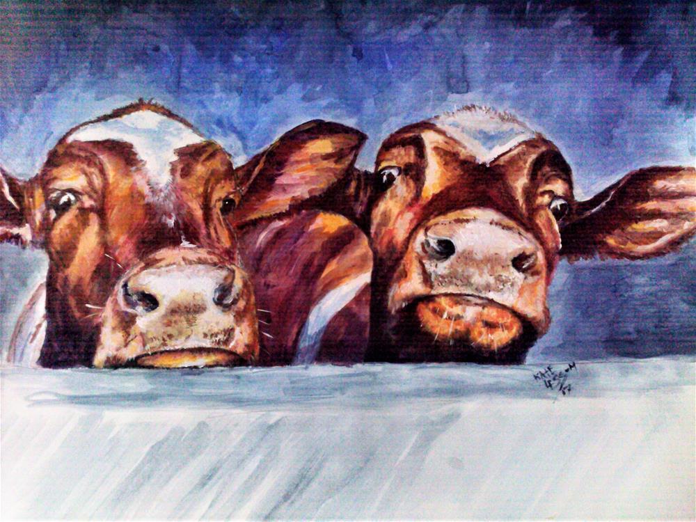"""Attention Divas"" original fine art by Kate Less-Madsen"