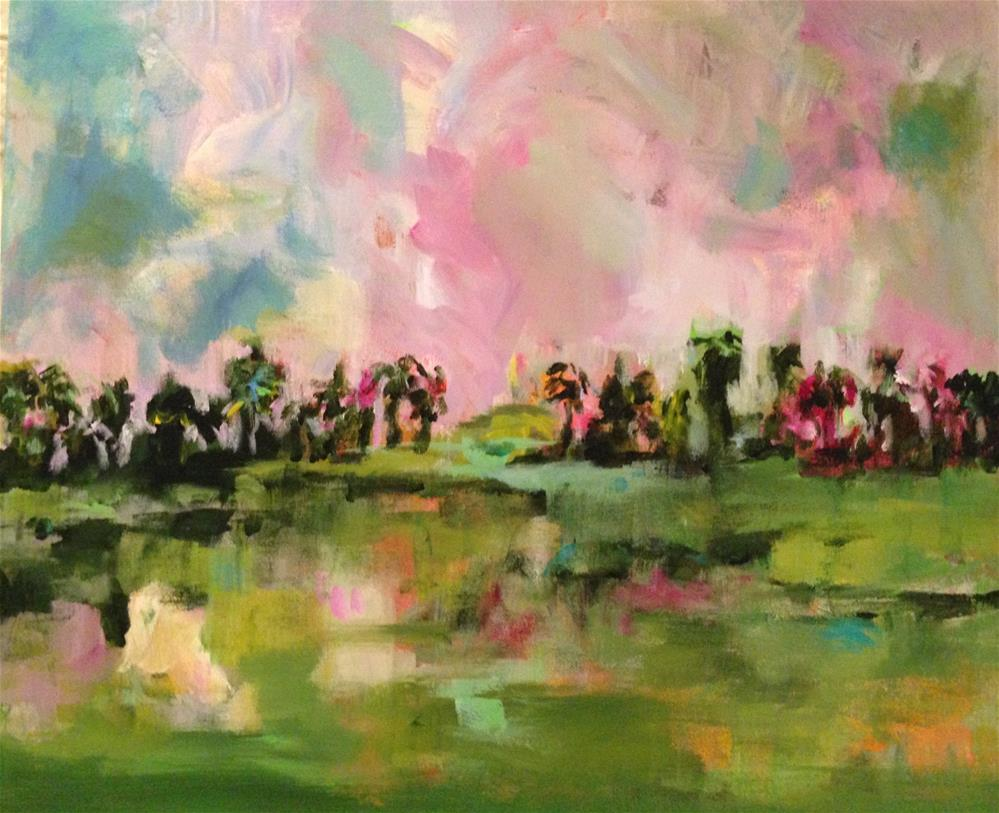 """""""Oasis"""" original fine art by Molly Wright"""