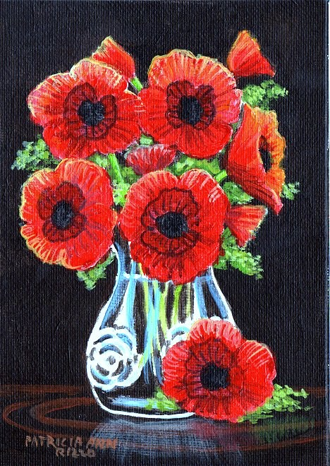 """Pretty Poppies"" original fine art by Patricia Ann Rizzo"