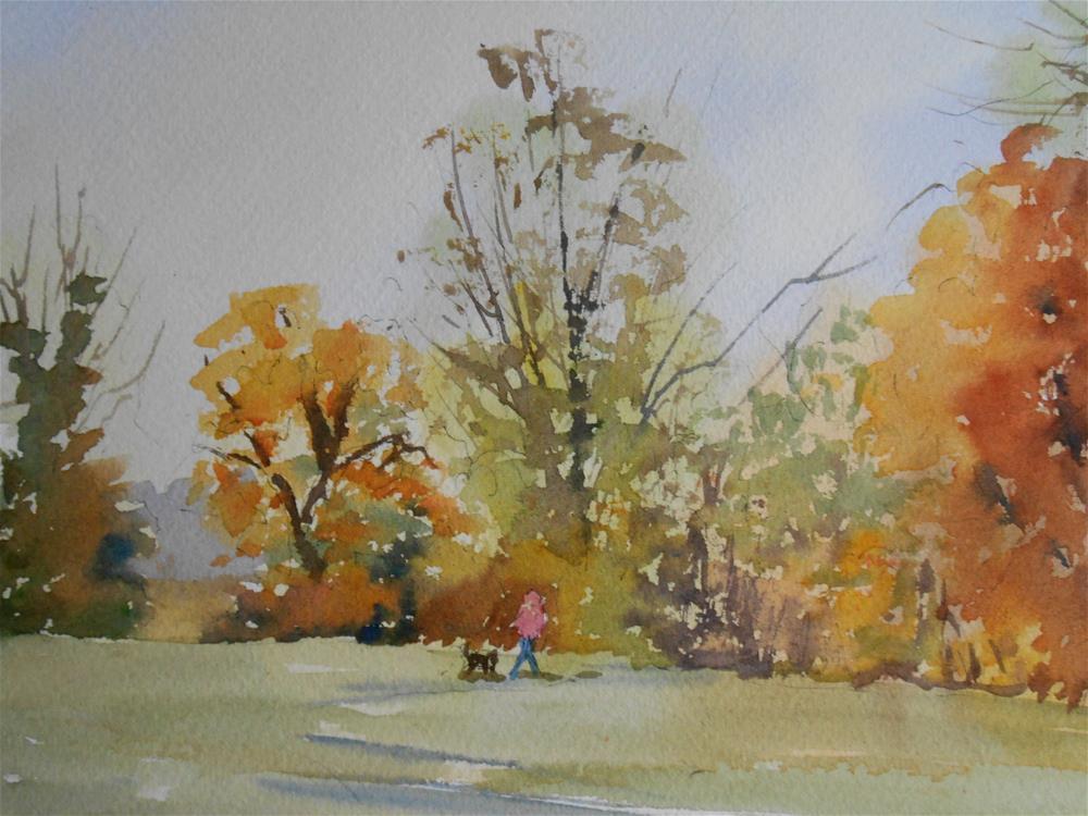"""""""Autumn Walk"""" original fine art by Graham Findlay"""