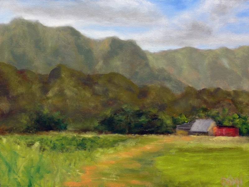 """Kauai Mountain Farm"" original fine art by Dalan Wells"