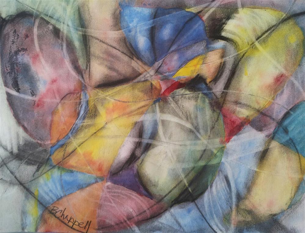 """Vine Play"" original fine art by Becky Chappell"