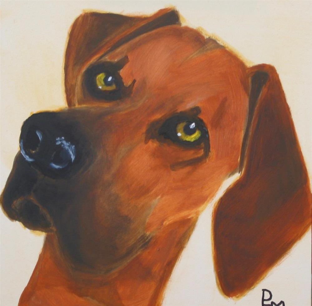 """Katie's Dog"" original fine art by Patricia Murray"