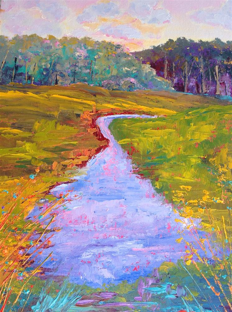 """Marshlands"" original fine art by Rose Brenner"