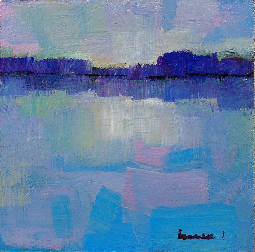 """Reflection in blue"" original fine art by salvatore greco"