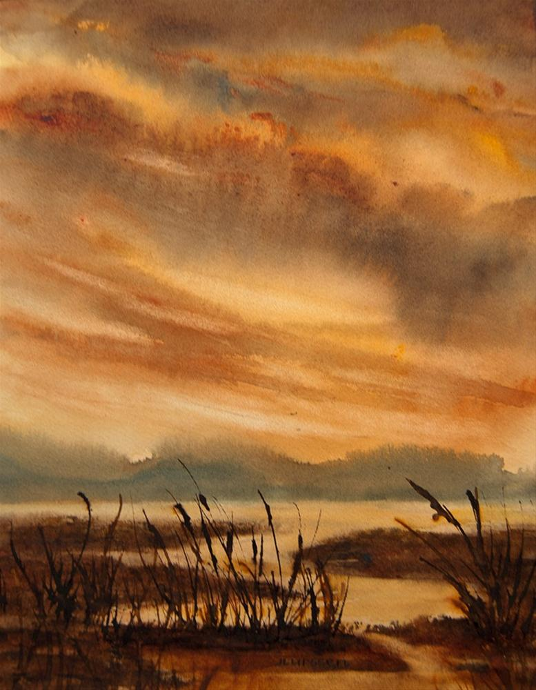 """Marsh Light"" original fine art by Jean Lurssen"