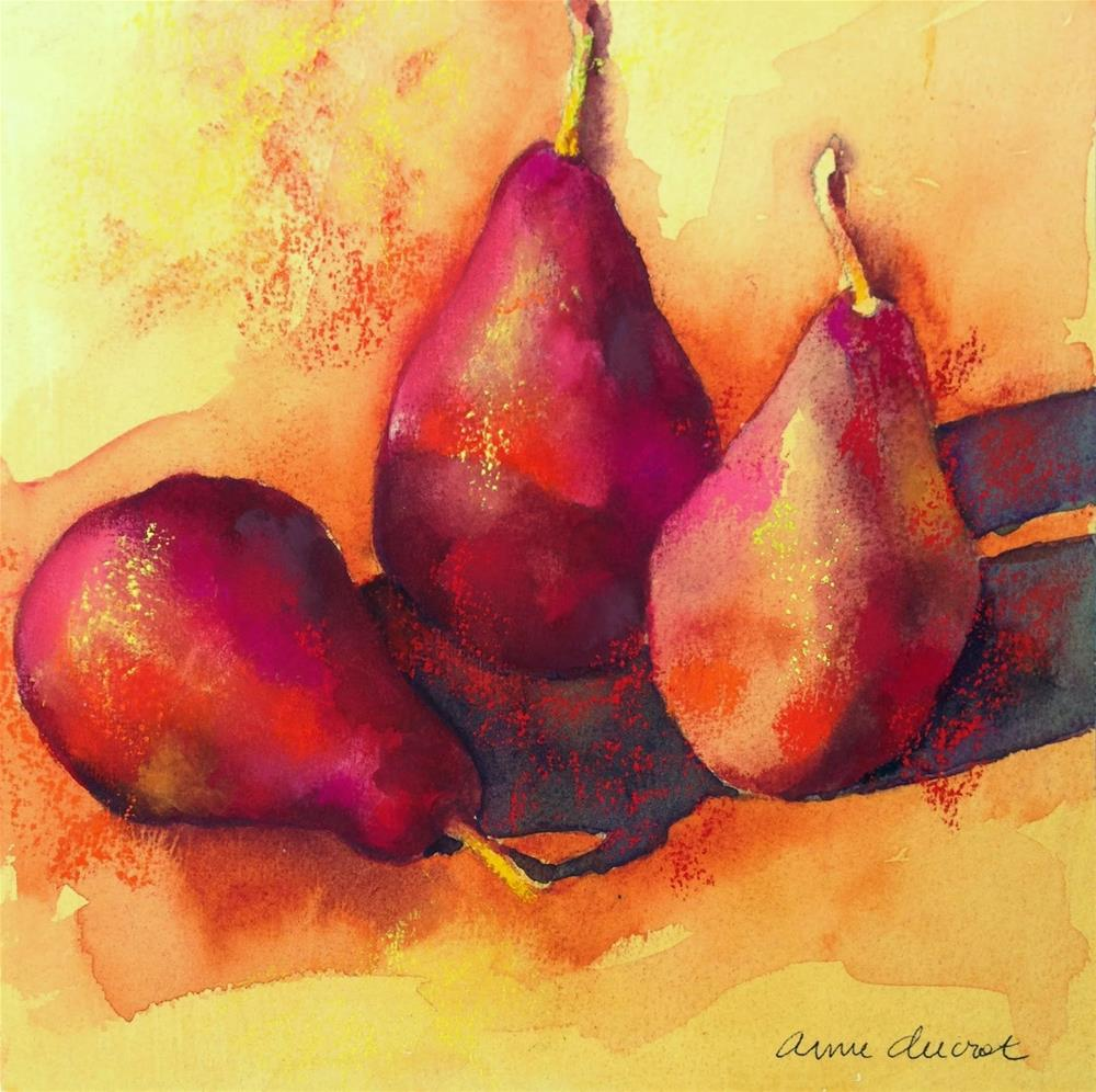 """Red Hot Pear study"" original fine art by Anne Ducrot"