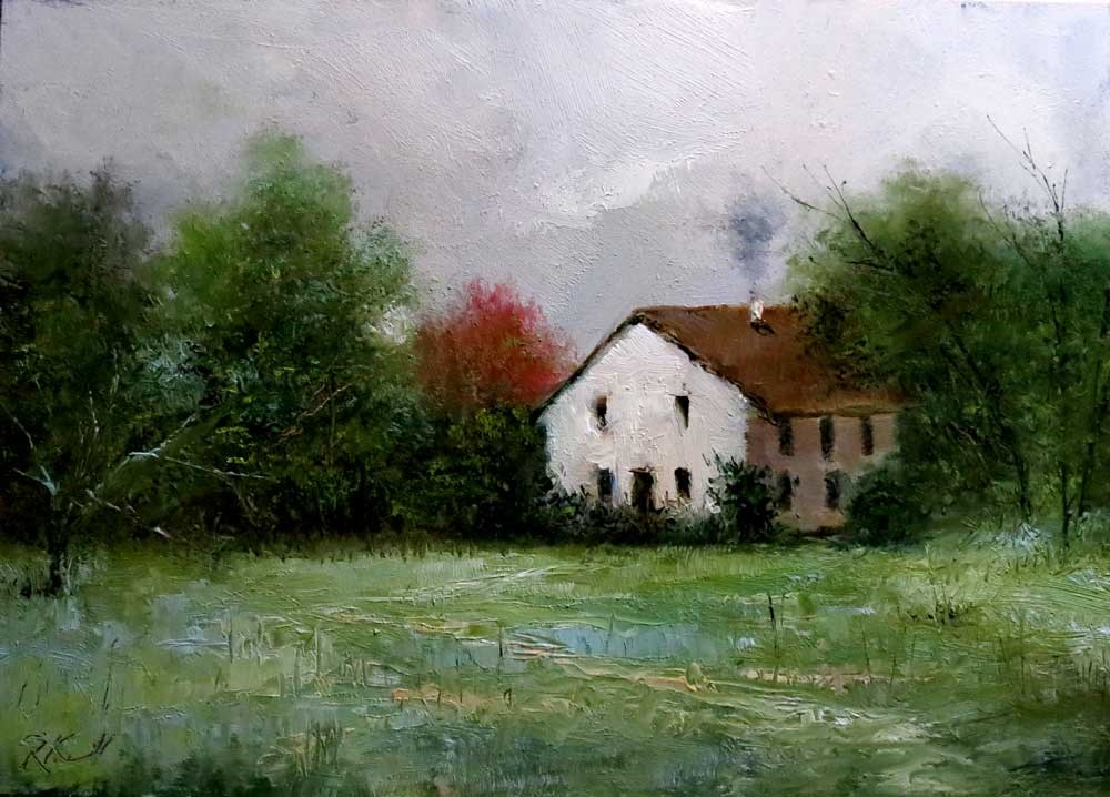 """An Old Farmhouse"" original fine art by Bob Kimball"