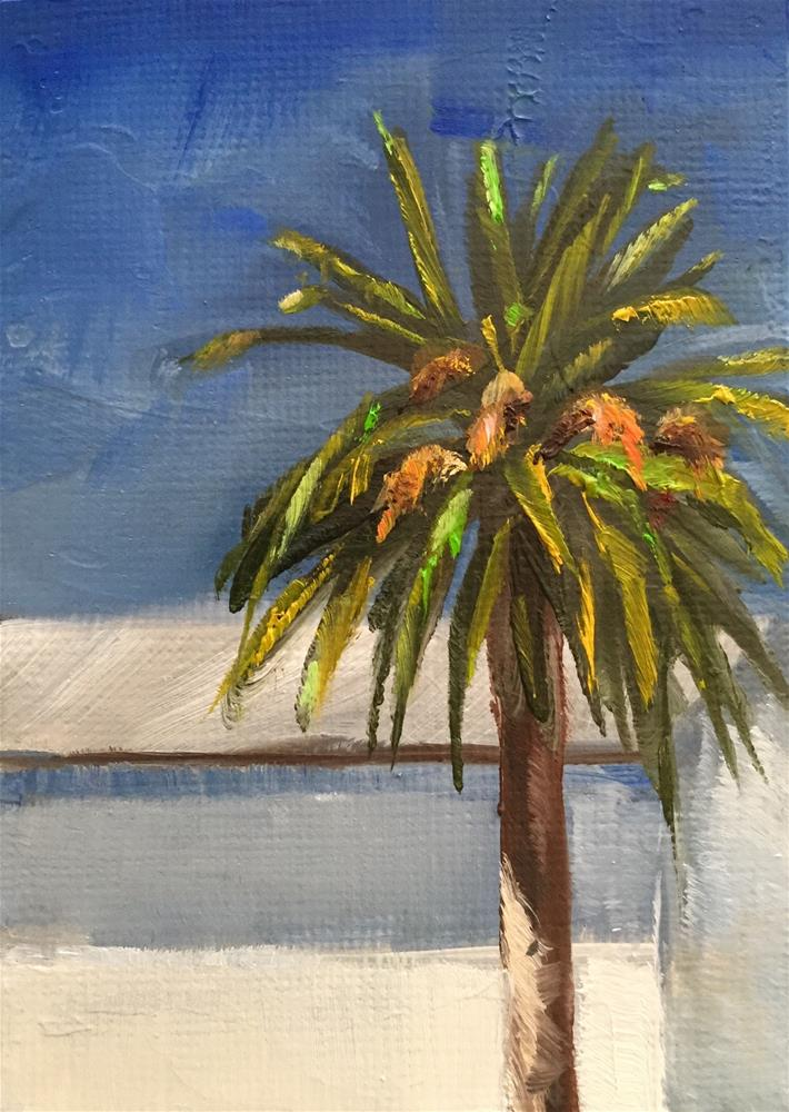 """Date Palm"" original fine art by Gary Bruton"