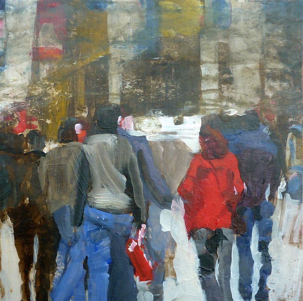 """""""Menschen auf der Straße /  people on the street"""" original fine art by Mila Plaickner"""