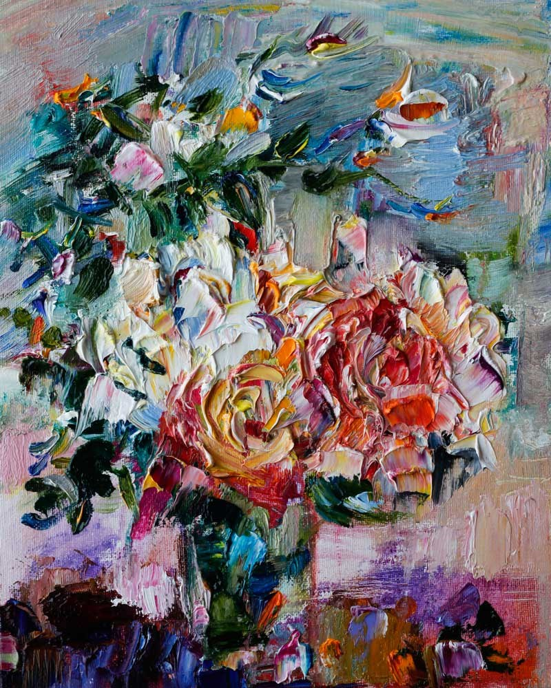 """Romantic Bouquet"" original fine art by Anna  Fine Art"