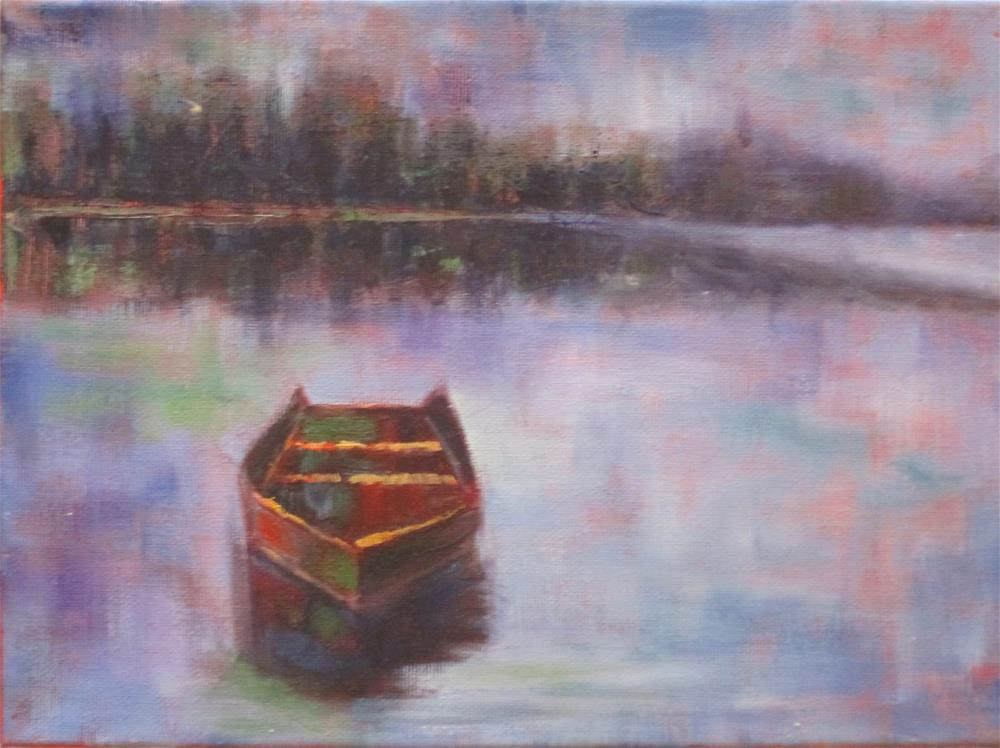 """The Rowboat"" original fine art by Barbara Wagner"