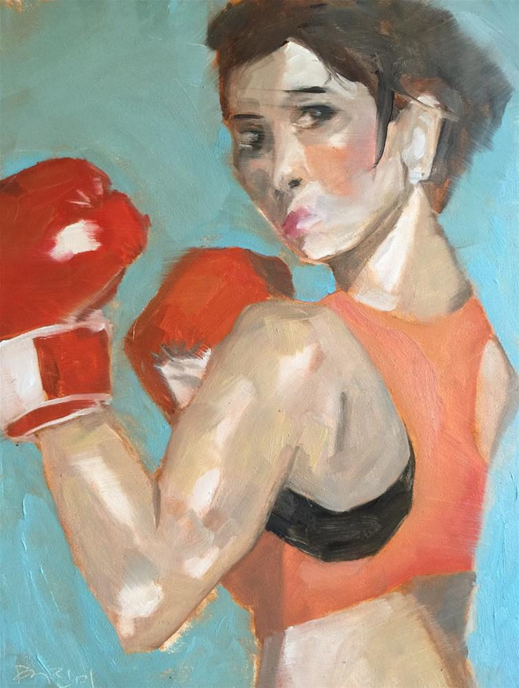 """105 Fight Like a Girl"" original fine art by Jenny Doh"
