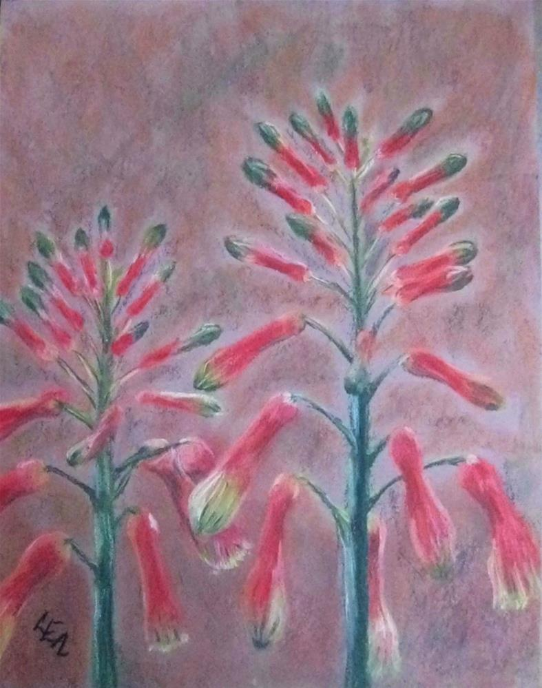 """Aloe Spires"" original fine art by Anna Lisa Leal"