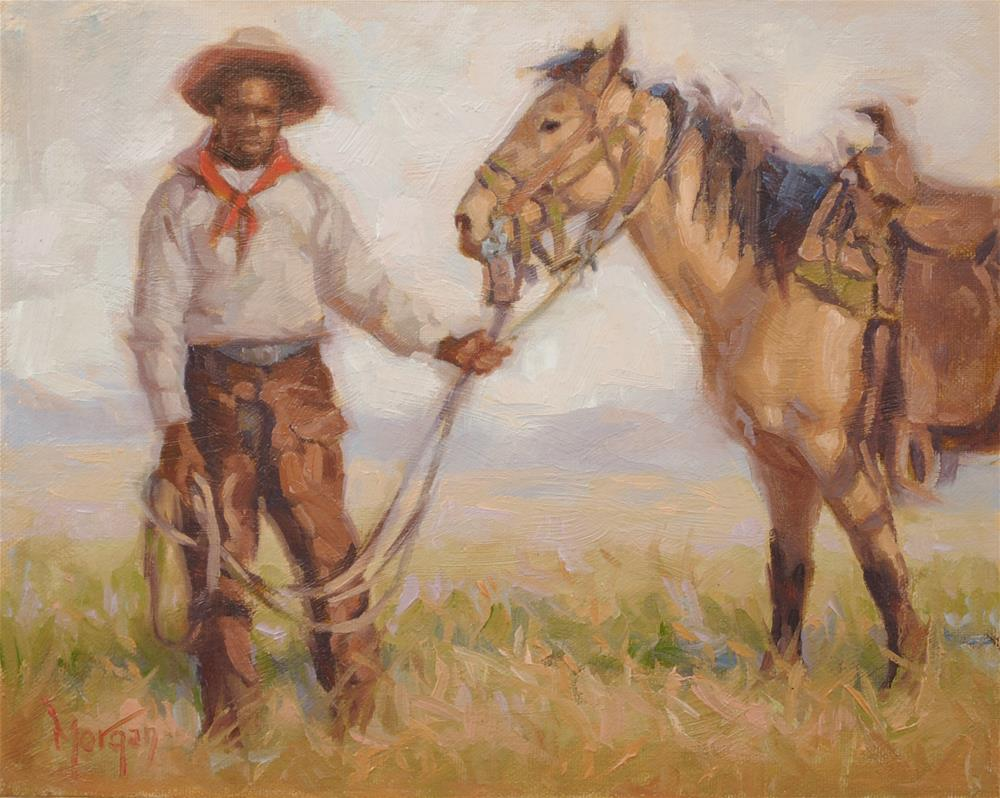 """Wrangler Memories #14"" original fine art by Cecile W. Morgan"
