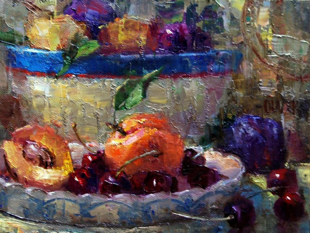 """""""Fruit Plate"""" original fine art by Julie Ford Oliver"""