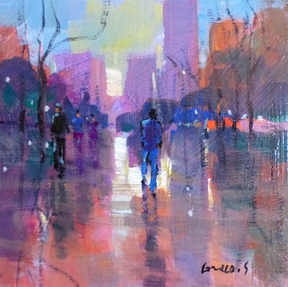 """In the city 2"" original fine art by salvatore greco"