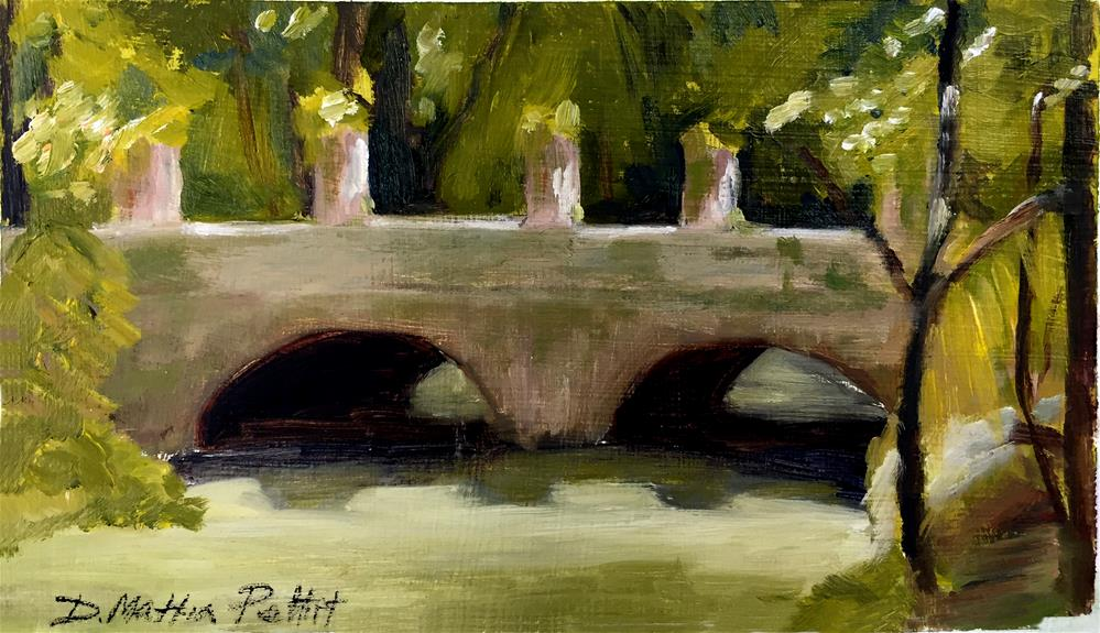 """Bridge in Jamaica II"" original fine art by Dolores Pettit"