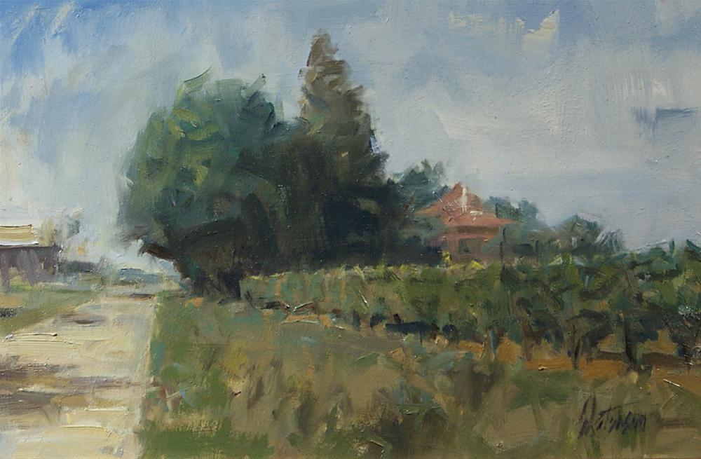 """French Vineyard"" original fine art by Mike Peterson"