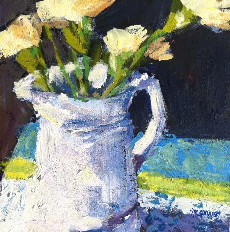 """""""white jug"""" original fine art by Shelley Garries"""