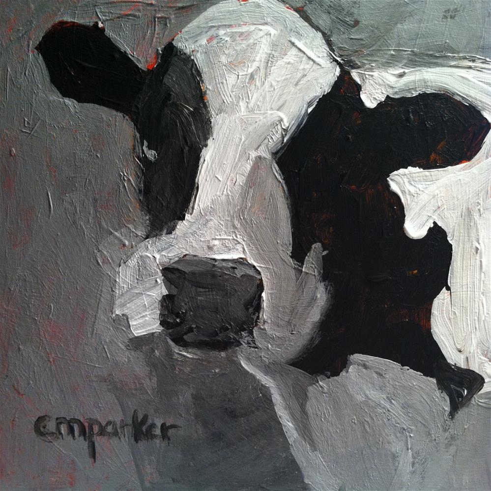 """Cow 11/15/13"" original fine art by Christine Parker"