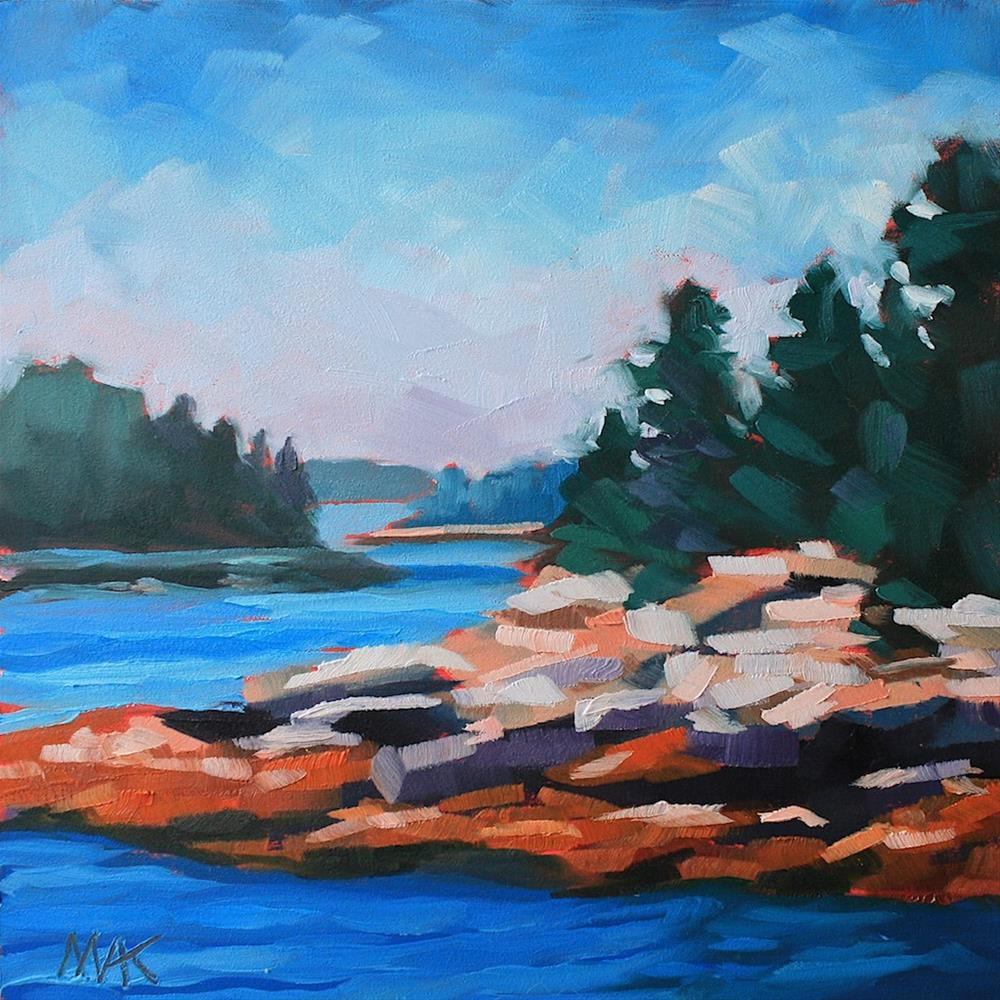 """En Route to Merrymeeting Bay"" original fine art by Mary Anne Cary"
