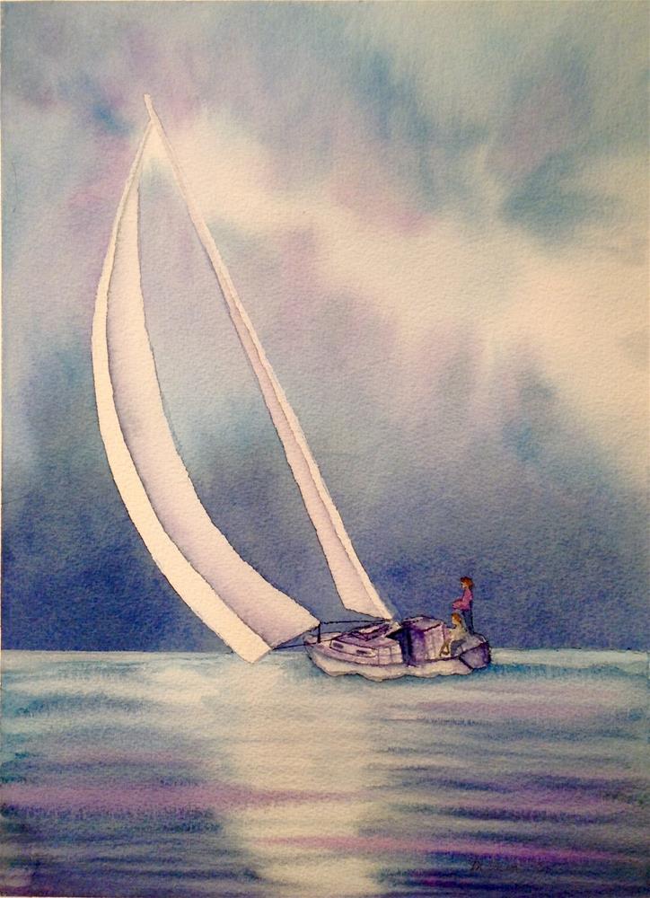 """Sail Away"" original fine art by Marcia Bergtholdt"