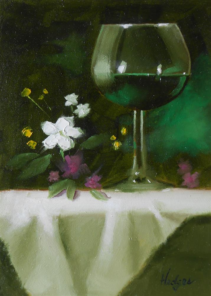 """Arrangement with Creme de Menthe"" original fine art by Bruce Hedges"