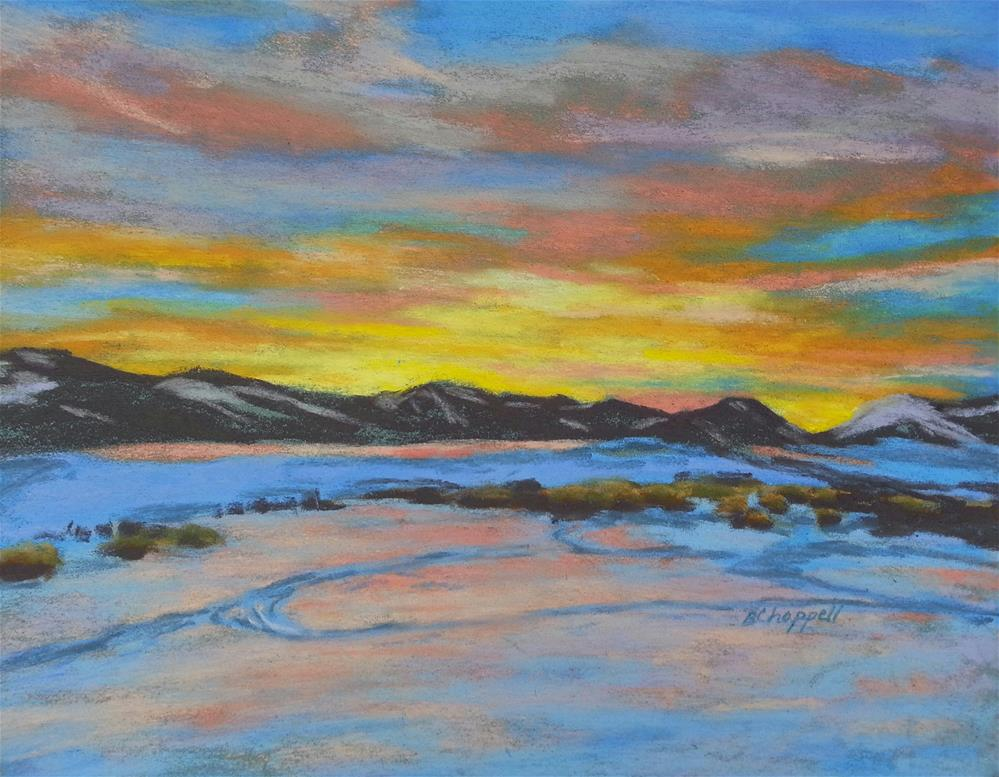 """Riverbend Sunrise"" original fine art by Becky Chappell"