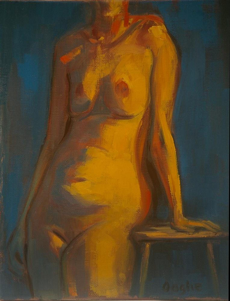 """Standing Nude"" original fine art by Angela Ooghe"