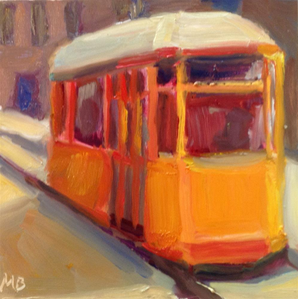 """Ferry Building Trolley"" original fine art by Marcia Bergtholdt"
