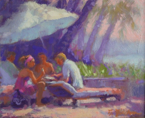 """Nikki Beach Brunch"" original fine art by Bruce Bingham"
