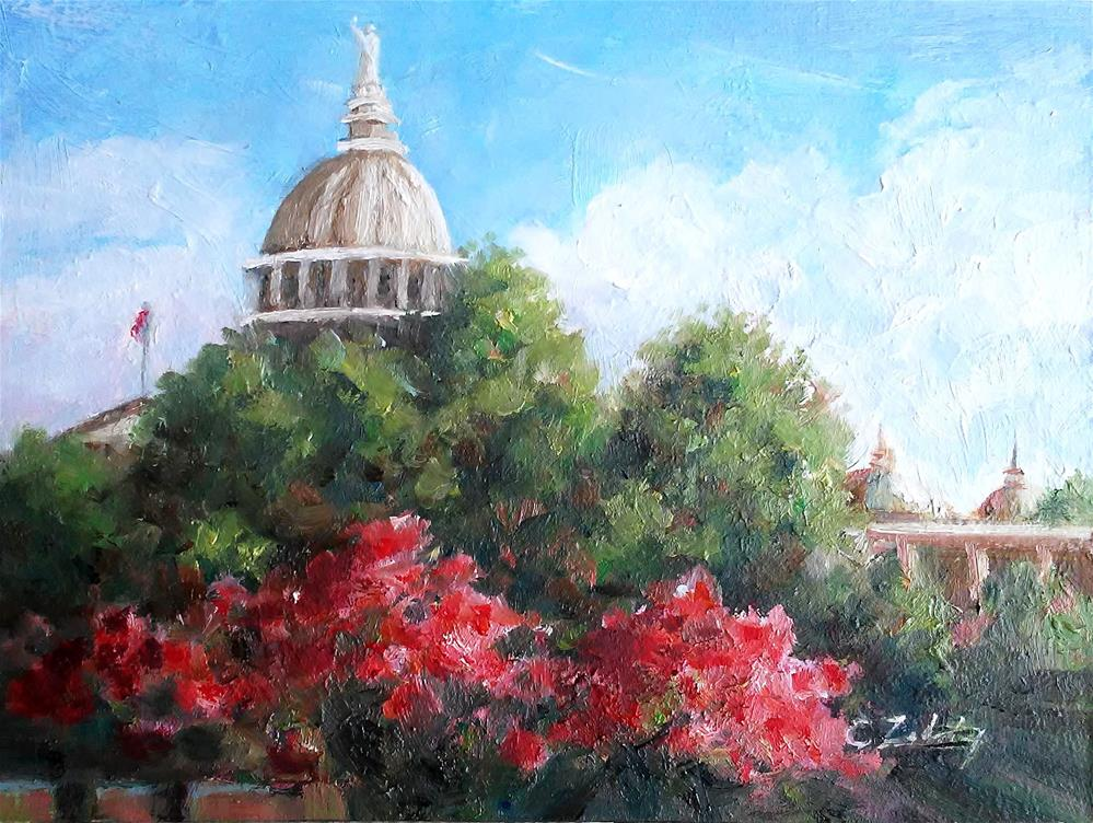 """A Capital Day"" original fine art by Catherine Zakutney"