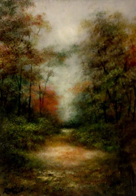 """The Sunlit Path"" original fine art by Bob Kimball"