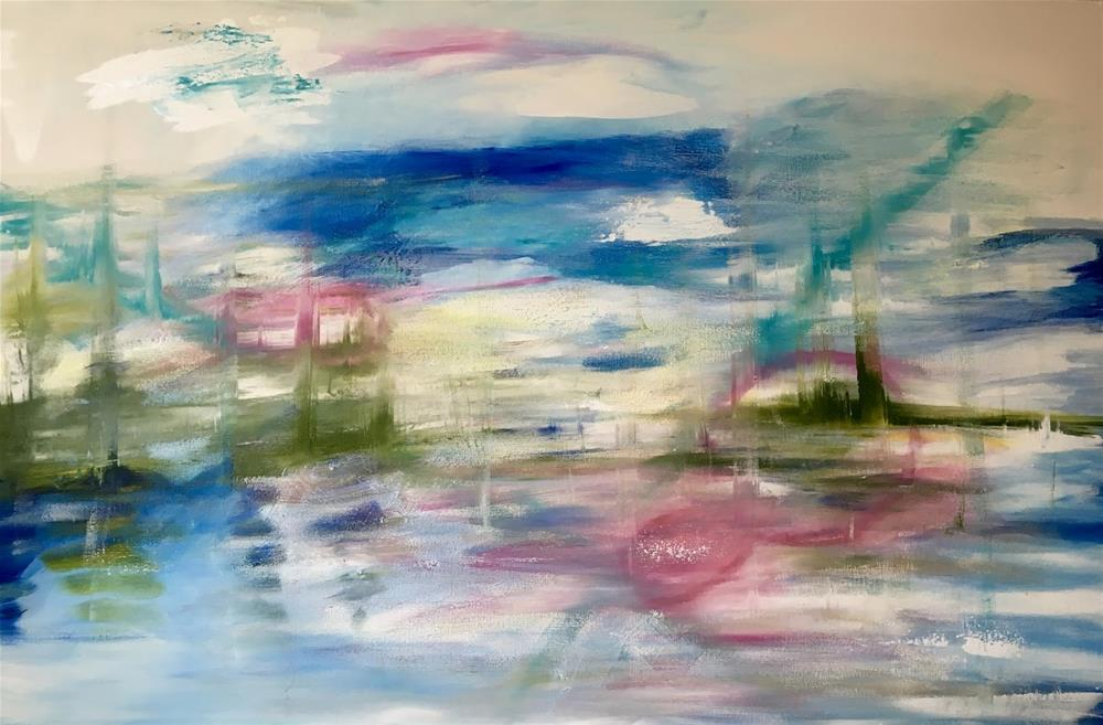 """""""30 Paintings in 30 Days - Painting #11 Dream Scape"""" original fine art by Kimberly Balentine"""
