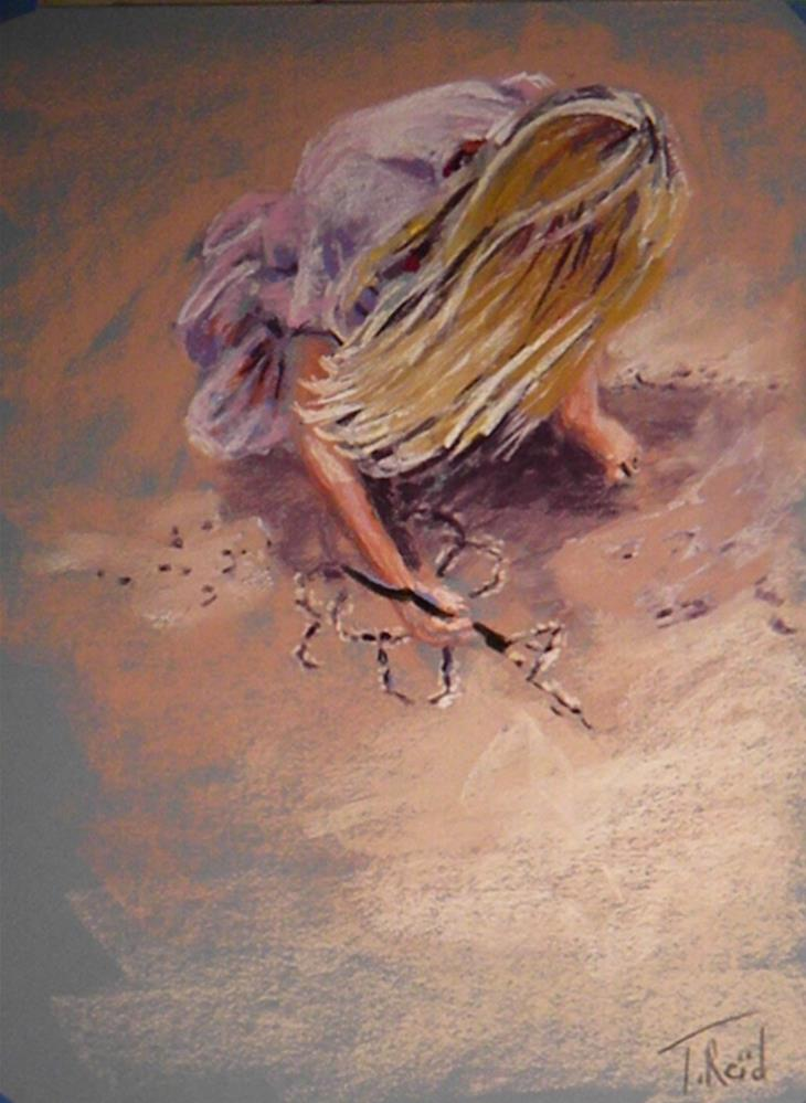 """Sand artist"" original fine art by Toby Reid"