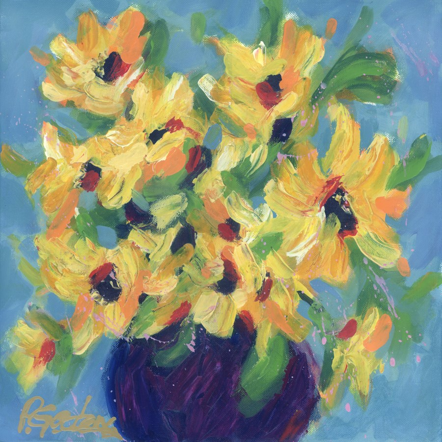 """Sunday Sunflowers"" original fine art by Pamela Gatens"