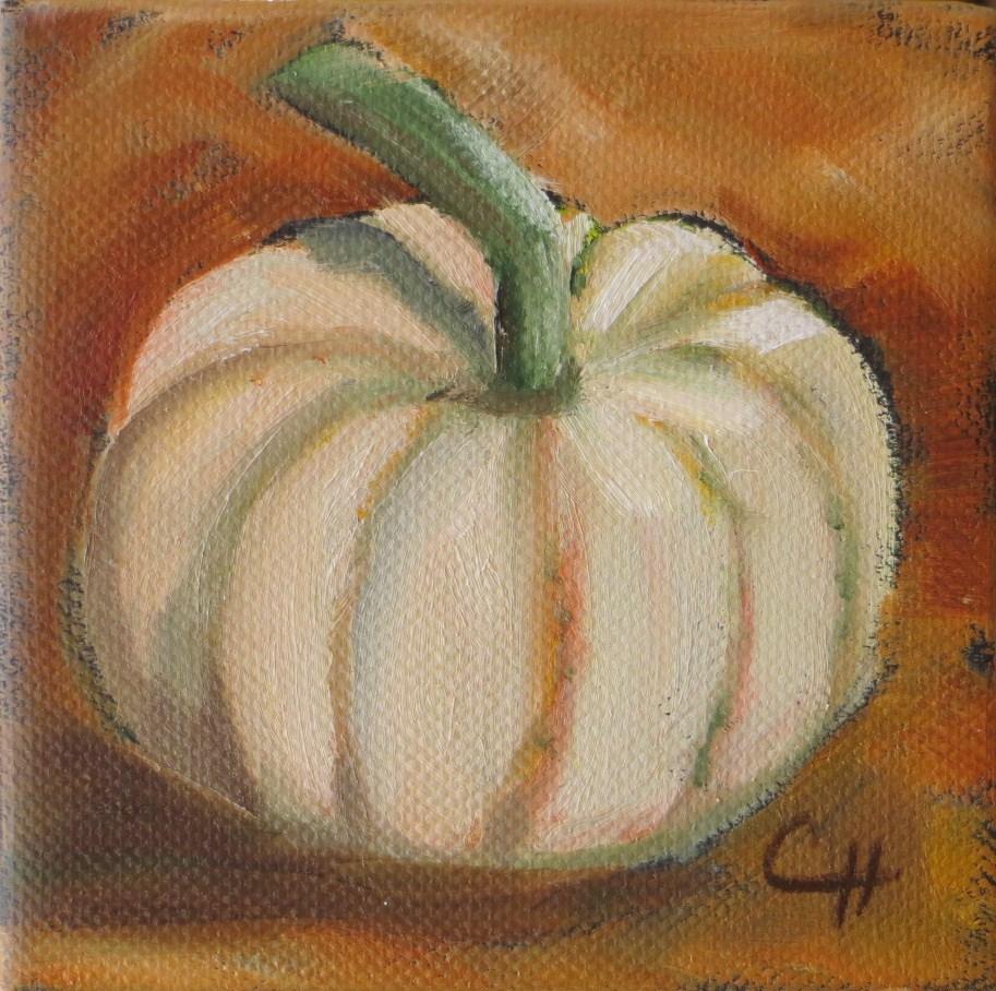 """""""Little Pumpkin"""" original fine art by Claire Henning"""