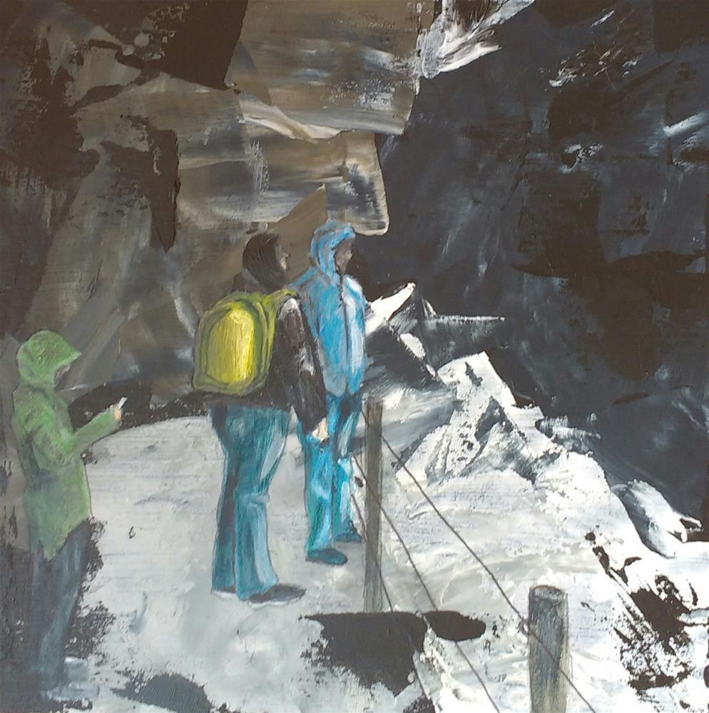 """in the gorge"" original fine art by Sandra Woerner"