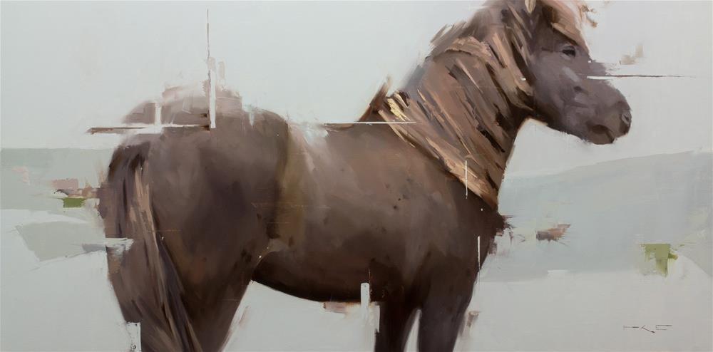 """""""Icelandic horse 9"""" original fine art by Thorgrimur Andri Einarsson"""