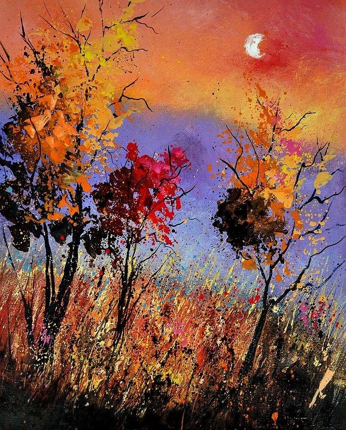 """""""autumn 451110"""" original fine art by Pol Ledent"""