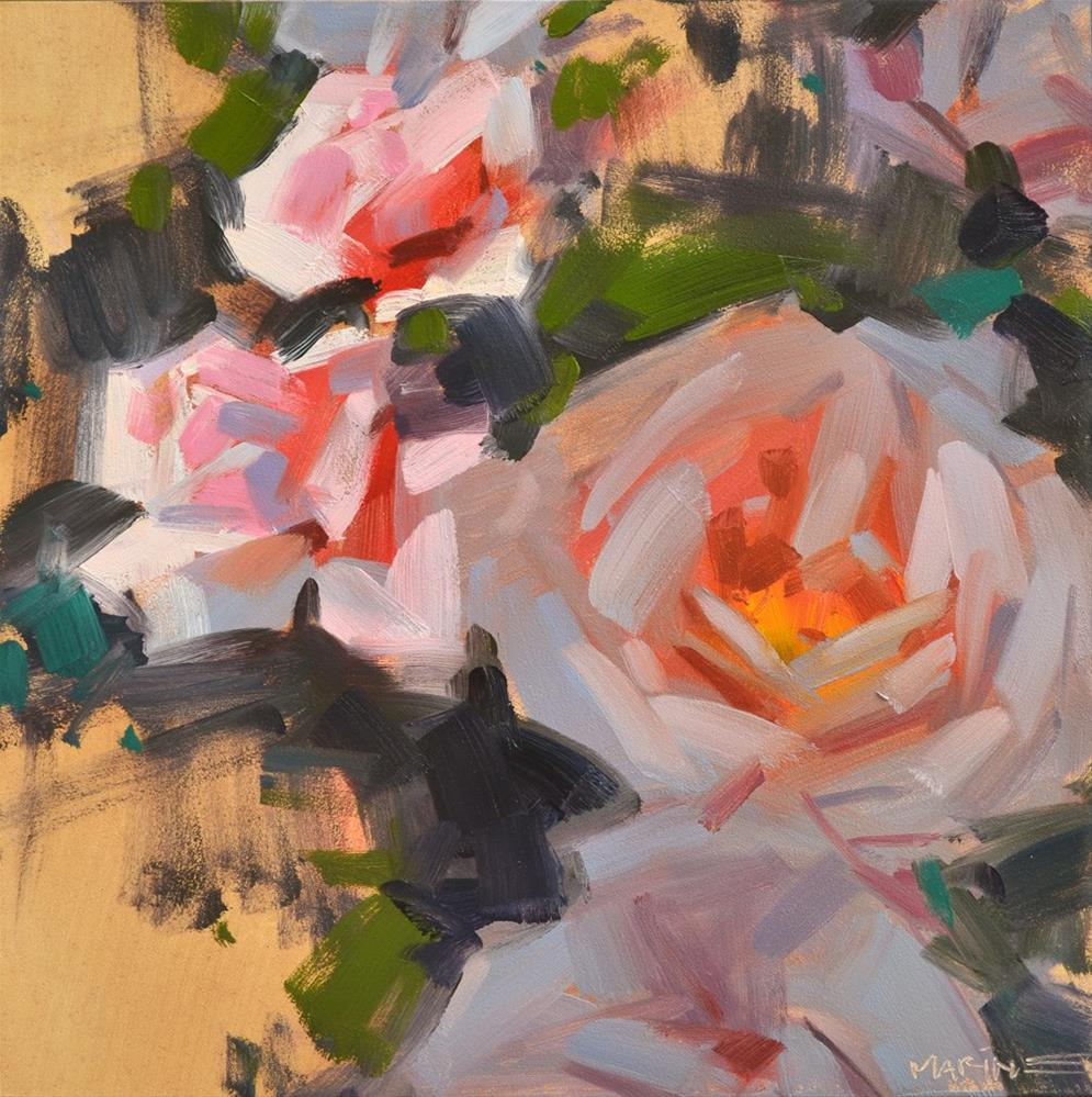 """Roses, Light and Shade"" original fine art by Carol Marine"