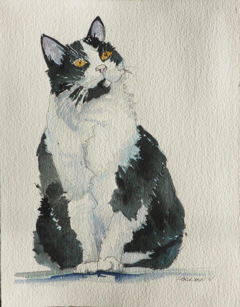 """""""Ma Belle Petite Cherie"""" original fine art by Carolynn Doan"""