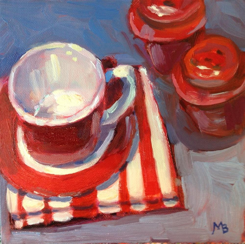 """Everything Red and White"" original fine art by Marcia Bergtholdt"